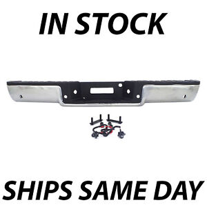 New Chrome Complete Rear Steel Bumper Assembly For 2006 2008 Ford F150 W Park