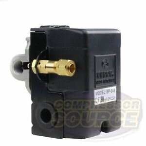 Heavy Duty 4port 25 Amp Air Compressor Pressure Switch Control Valve 105 135 Psi