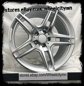 19 Inch Staggered Silver Mercedes Amg Oe Factory Replica Wheels Rims 5x112