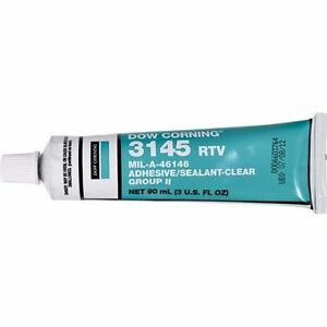 Dow Corning 3145 Rtv Silicone Adhesive 3 Oz Tube New Unopened Mil a 46146 Clear