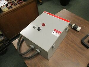 Abb Enclosed Starter A5053 84dh 208v Coil 60hz 3ph 52a Used