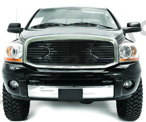 06 09 Dodge Ram 2500 3500 Front Black Big Horn Grille replacement Chrome Shell