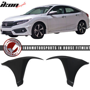 Special Deal Fits 16 18 Civic Coupe Sedan Hf p Style Front Bumper Lip Splitter