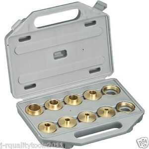 Brass Router Template Bushing Guide Kit Set For Porter Cable Base Inlay Hinge