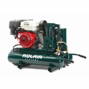 Rolair 9 Gallon 270cc 9 Hp Portable Belt Drive Air Compressor 1040hk18 New