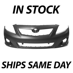 New Primered Front Bumper Cover For 2009 2010 Toyota Corolla Sedan S Xrs