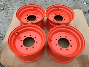 4 New 16 5x8 25x8 Skid Steer Wheel rim For Bobcat S175 S185 S205