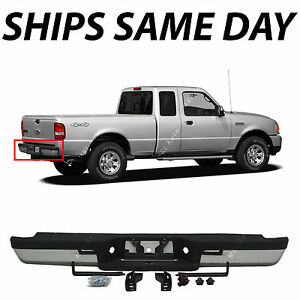 New Chrome Complete Steel Rear Step Bumper Assembly For 1993 2011 Ford Ranger
