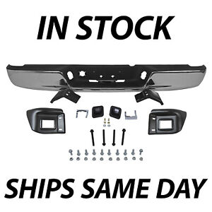 New Chrome Rear Step Bumper Assembly For 2004 2008 Dodge Ram 1500 2500 3500 Hd