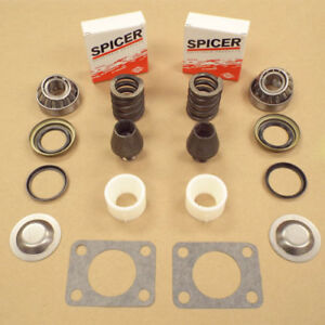 Kingpin Bearing Seal Rebuild Kit W Bushing Spring Gm Chevy Dana 60 Dana 77 91