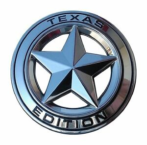 Texas Star Edition 3 Emblem Chrome And Black Universal Stick On Tacoma Tu