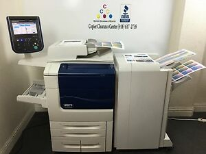 Xerox Color 550 Copier Printer Scanner Bustled Fiery Finisher Low Meter 135k