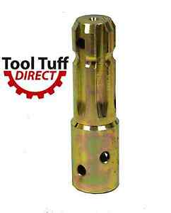 Pto Increaser Adaptor 1 3 8 X 6 Male X 1 1 8 X 6 Female Extends 3 5 8 New