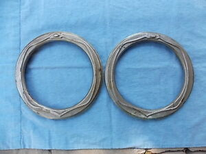 Vintage Pair 2 1920s Head Light Bezels Oakland Buick Chevy Olds Cadillac