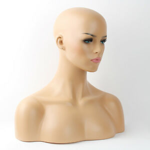 Realistic Mannequin Head Fiberglass Hat Glasses Mold Stand Torson Wig African 5