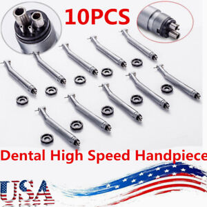 2018 10 nsk Style Dental High Speed Handpiece Push Button 4 Hole Usa New