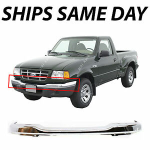 New Chrome Steel Front Upper Bumper Cover For 2001 2005 Ford Ranger Truck 2wd