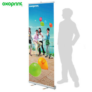 Retractable Roll Up Banner Stand 33 X 79 Free Printing Free Shipping