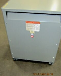 Reconditioned 75 Kva 480 Primary 208y 120 Secondary Ite Transformer