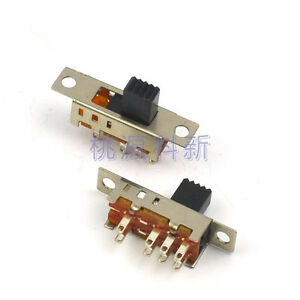 20pcs Toggle Switch Slide Switch 2p3t 8pins 3position Dc 50v 0 3a Ss23e04 G5