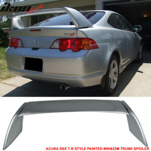 02 06 Acura Rsx Dc5 Type R Trunk Spoiler Painted Satin Silver Metallic Nh623m
