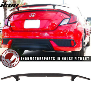 Fits 16 18 Honda Civic Coupe 2dr Ikon Type A Trunk Spoiler Si Sport Rear Wing