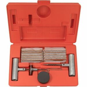 35 Pieces Tire Repair Tool Kit W Case Plug Patch Lubricating Oil Z0183