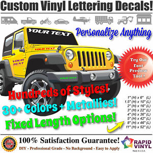 Custom Vinyl Lettering Decal Sticker Business Car Boat Body Truck Window Signs