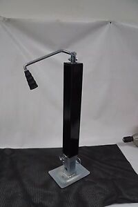 Trailer Jack 8000 Lb Top Wind Squre Tube With Drop Leg