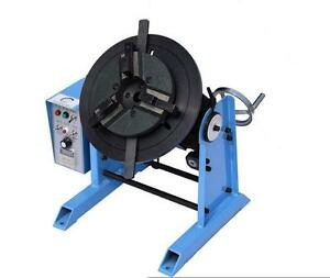 New 1 15rpm 50kg Welding Positioner Turntable Timing With 200mm Chuck 220v