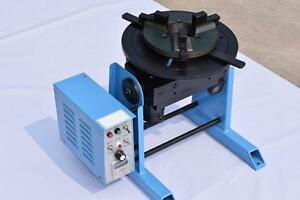 New 1 15rpm 30kg Duty Welding Positioner Turntable Timing With 200mm Chuck 220v