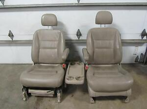 03 04 Honda Odyssey Tan Front Leather Bucket Seats Left Right Electric Control