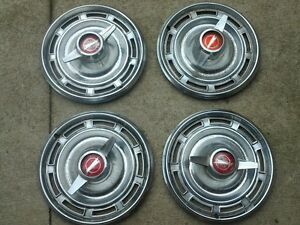 1966 Buick Special Original Hubcaps Set Of 4