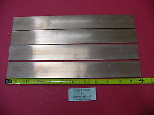 4 Pieces 1 8 x 1 1 2 C110 Copper Bar 12 Long Solid Flat Mill Bus Bar Stock H02