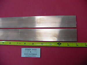 2 Pieces 1 8 x 1 1 2 C110 Copper Bar 14 Long Solid Flat Mill Bus Bar Stock H02