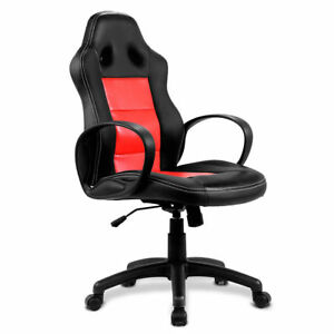 New High Back Race Car Style Bucket Seat Office Desk Chair Gaming Chair Red