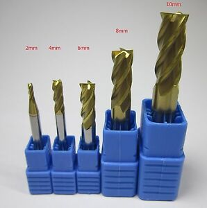 Hrc58 4 Flutes 2 4 6 8 10 Mm Tungsten Carbide End Mills Set Milling Cutter Cnc