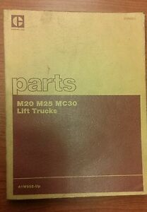 Caterpillar Parts Manual M20 M25 M30 Lift Trucks sebn2521