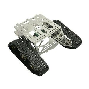 Metal Robot Chassis Track Arduino Tank Chassis Wali W Motor Stainless Stee