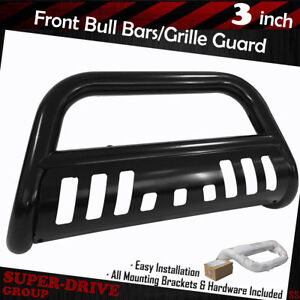 Black Brush Push Front Bumper Grille Guard Bull Bar For 1994 2001 Dodge Ram 1500