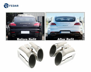 Stainless Steel Exhaust Muffler Tip Pipe For Porsche Panamera 4s Turb 2014 2016