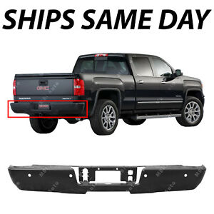 New Primered Steel Bumper Bar For 2014 Chevy Silverado Gmc Sierra W out Step