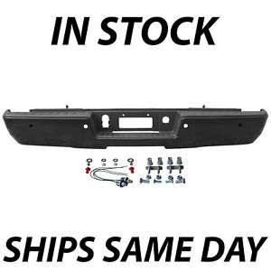 New Primered Rear Bumper For 2014 2018 Chevy Silverado Sierra 1500 Truck No Step