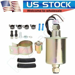 New Universal Low Pressure In Line Electric Fuel Pump Installation Kit E8016s