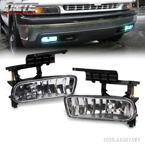 For 00 06 Chevy Suburban Tahoe Clear Bumper Fog Lights Driving Lamps