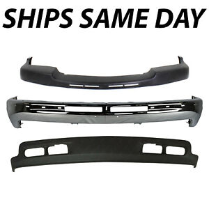 New Steel Chrome Front Bumper Kit For 1999 2002 Chevy Silverado 2500hd 3500