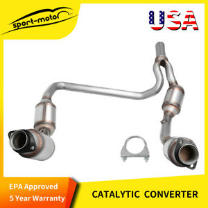 Catalytic Converter Y Pipe For Jeep Wrangler 3 8l 2007 2009 Epa Compliant 50482
