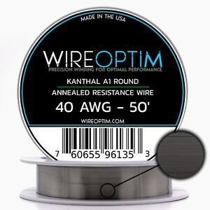 40 Gauge Awg Kanthal A1 Wire 50 Length Ka1 Wire 40g Ga 0 08 Mm 50 Ft