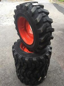 4 10 16 5 Hd Skid Steer Tires wheels rims For Bobcat Camso Sks532 Heavy Duty