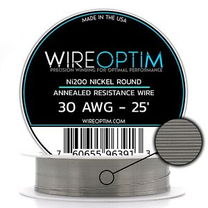 Wireoptim Annealed Ni200 Nickel 30 Gauge Awg 25 Non Resistance Wire